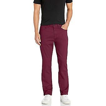 Märke - Goodthreads Men&s Athletic-Fit 5-Pocket Chino Pant, Bourgogne 30W x 32L