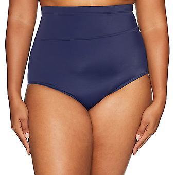 Brand - Coastal Blue Plus Size Bikini Bottom, Navy, XL
