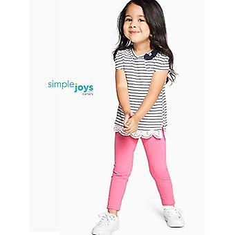 Simple Joys by Carter's Baby Girls' Toddler 3-Pack Leggings, Navy/Pink/Denim,...