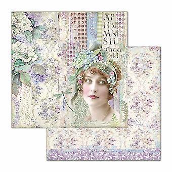 Stamperia Hortensia Lady 12 x 12 Zoll Papierblätter (10pcs) (SBB698)