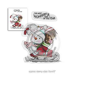 Polkadoodles Winnie Wonderful Time Clear Stamps