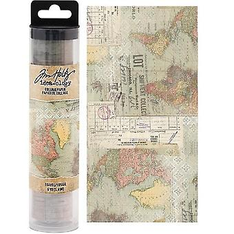 Advantus Tim Holtz Collage Paper Travel (6yards) (TH93950)