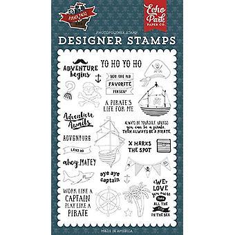 Zestaw znaczków Echo Park Land Ho Clear Stamp
