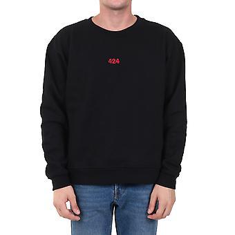 424 80071150999 Men's Black Cotton Sweatshirt