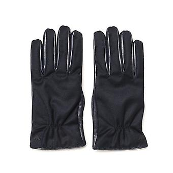Guantes Emporio Armani Leather Blue