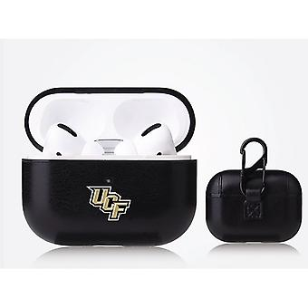 UCF Knights NCAA Fan Brander Zwart Lederen AirPod Pro Case