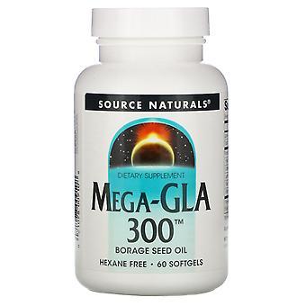 Source Naturals, Mega-GLA 300, 60 Softgels