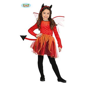 Guirca Devil costume with wings for girls Halloween Tutu red horns