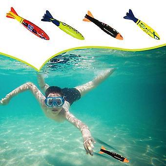 Divin Torpedo Rakett Kaster Pool Dykking Spillet Sommer Torpedo Robber Barn Undervanns Dykking Stick Spille Vann Leketøy 2 Stk