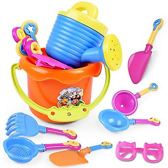 9pcs Outdoor Sea Sand Beach Bucket Shovel Rake Water, Set Classic Baby Water