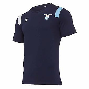 2020-2021 Lazio Poly Puuvilla T-paita (Navy)