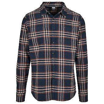 Urban Classics Men's Long Sleeve Shirt Checked Campus