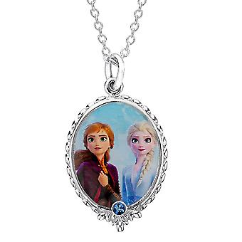 Disney Frozen 2 Elsa and Anna Silver Plated Pendant Necklace