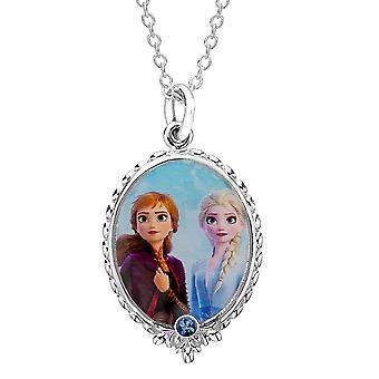 Disney Mrożone 2 Elsa i Anna Srebrne pozłacane naszyjnik wisiorek