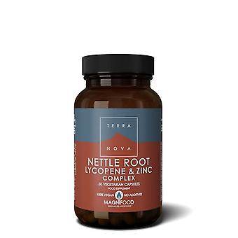 Terranova nettle wortel, lycopeen & zink complex Vegicaps 50 (T1742)