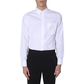 Alexander Mcqueen 550444qmn669000 Männer's weißes Baumwollhemd