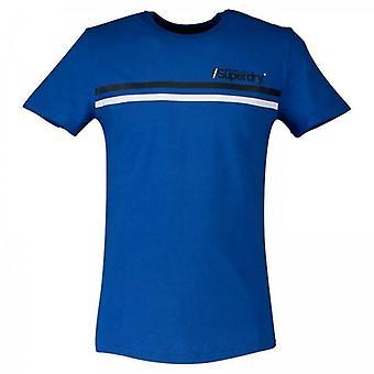 Superdry Core Logo Sport Stripe T-Shirt Blau 69H