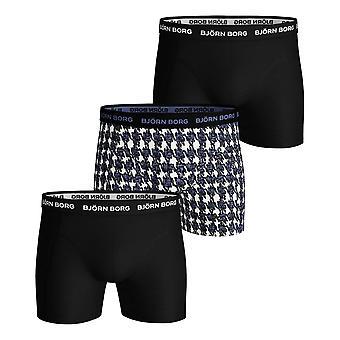 بيورن بورغ سامي Houndstooth 3 حزمة الملاكم شورت -- جيت ستريم