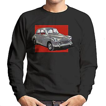 Morris Minor Red Background British Motor Heritage Men's Sweatshirt