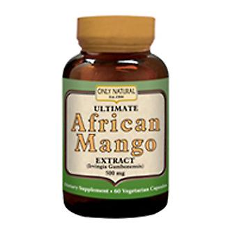 Only Natural Ultimate African Mango, 500 mg, 60 Veg Caps