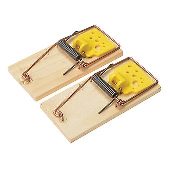 Rentokil Wooden Mouse Traps (Twin Pack) RKLPSW107