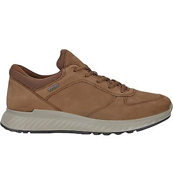 ECCO Mens Exostride Gore-Tex Leather Outdoors Sneakers Trainers - Cocoa Brown