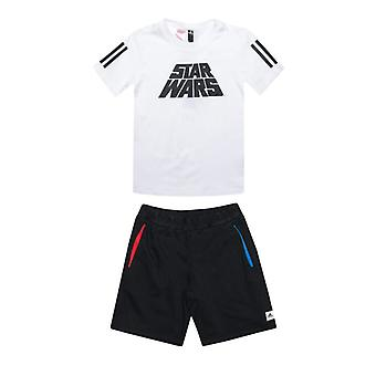 Boy's adidas Infant Star Wars Summer Set in White