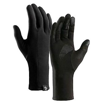 Unisex Ski Gloves- Winter Warm Windproof, Anti-slip Fleece Thermal Touch Screen