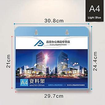 A4 Wall Mount Sign Holder, Display Frame File Literature Pocket Document Folder