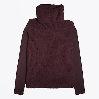 Ania Schierholt  - Roll-Neck Knitted Pullover - Burgundy