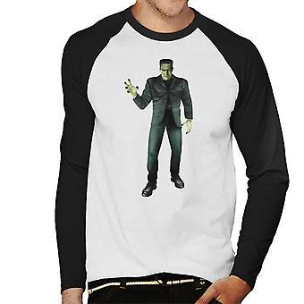 Frankenstein Monster Pose Men's Baseball langärmelige T-Shirt