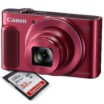 Canon powershot sx620 hs digital camera along with 32gb, deluxe accessory bundle and cleaning kit ps18515