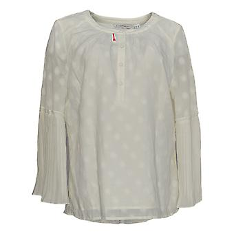Isaac Mizrahi Live! Dames's Top Clipped Dot White A351098