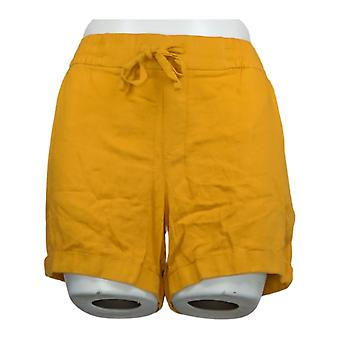 Old Navy Women's Shorts Mid-Rise Linen-Blend Shorts Yellow