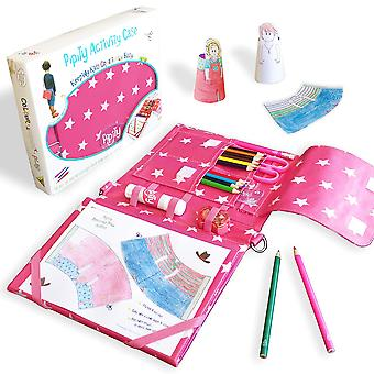 Pipity arts and crafts for kids. kits with stationery set + kids activity books: paper craft, art, t