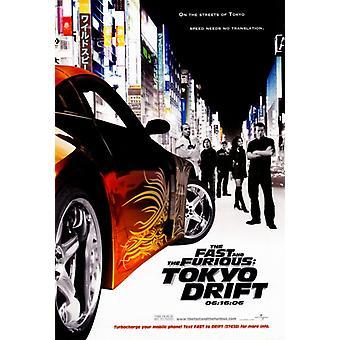 高速とワイルド スピード東京ドリフト映画ポスター印刷 (27 × 40)