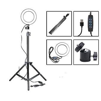 Dimmable Led Ring - Light With Tripod For Camera-photo