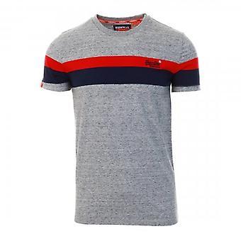 Superdry OL Classic YD Stripe T-Shirt Gris Grit 9SS