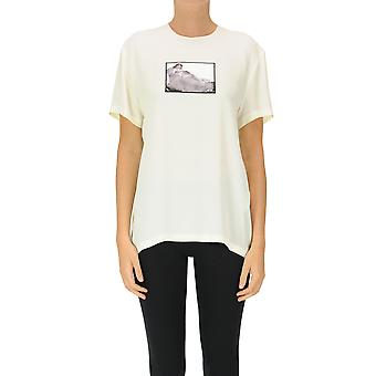 N°21 Ezgl068248 Women's Beige Acetate T-shirt