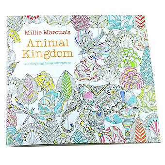 Children Adult Animal Kingdom Treasure Hunt Coloriage Livre de peinture