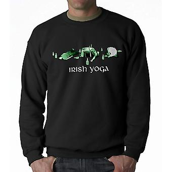 Humor Irish Yoga Men's Black Sweatshirt