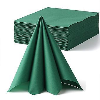 Lekoch green decoration disposable guest towel linen feel dinner napkin paper | air-laid napkins pap