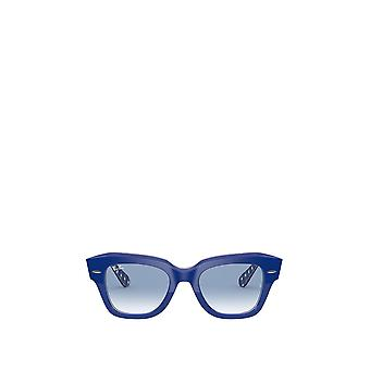 Ray-Ban RB2186 blue on vichy blue / white unisex sunglasses