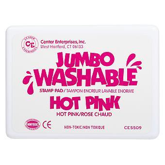 Jumbo Washable Stamp Pad, Hot Pink