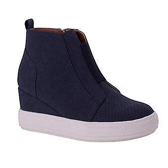Wanted Shoes Women's Hidden Heel Fashion Wedge Sneakers