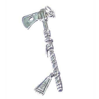 Tomahawk Sterling Hopea Charm .925 X 1 Native American Axes Charms - 490