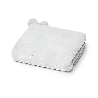 Mayoral grey faux fur baby blanket 9783/18