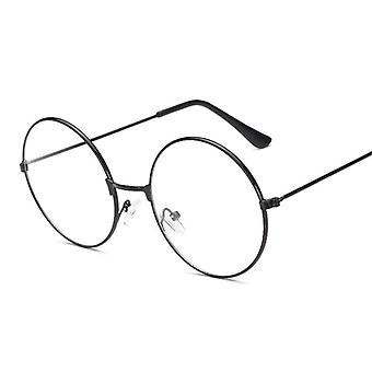 Unisex Round Plain Glasses, Metal Frame