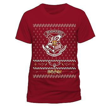 Harry Potter Unisex Adult Crest Christmas T-Shirt