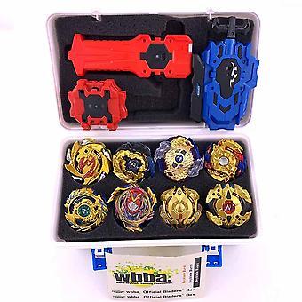 انفجار لعبة معدنية مجموعة مربع تخزين مع مقبض قاذفة البلاستيك